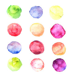 set with isolated watercolor vector image