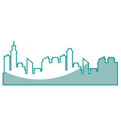 Silhouette of city buildings vector