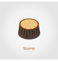 Stump isometric vector image vector image