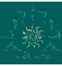 sun salutation vector image vector image