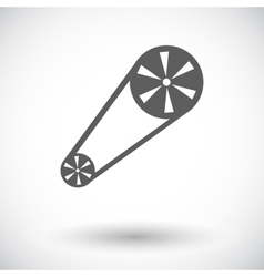 Timing belt flat icon vector image