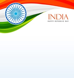Tricolor indian flag background vector
