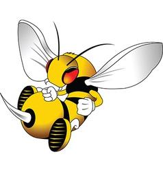 Wasp cartoon vector