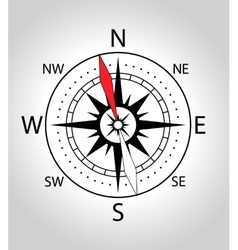 Wind rose compass icon vector