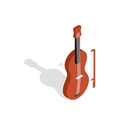 Violin icon in isometric 3d style vector