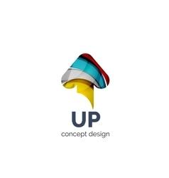 Up arrow logo business branding icon vector