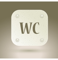 Wc icon toilet restroom sign isolated on gray vector