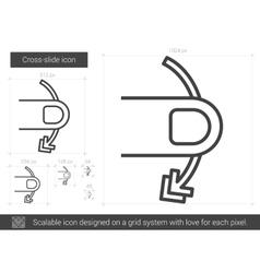 Cross-slide line icon vector