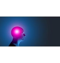 Healthcare and migraine concept - vector