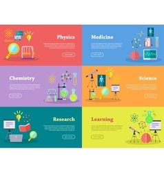 Physics chemistry medicine science learn research vector