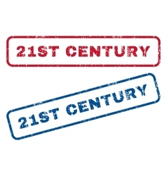 21st century rubber stamps vector