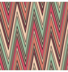 striped textured zig zag seamless pattern vector image