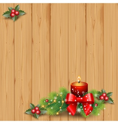 Wood and candle vector