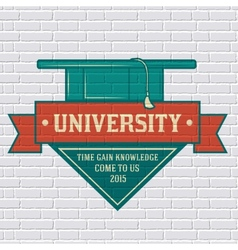 University logo or label template with blurred vector