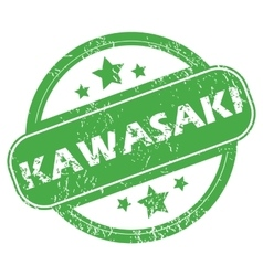 Kawasaki green stamp vector