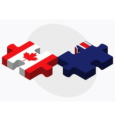 Canada and falkland islands flags vector