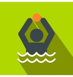 Water polo flat icon vector