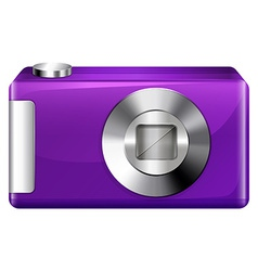 A violet digital camera vector