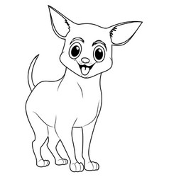 animal outline for little chiwawa dog vector image