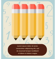 back to school of pencil set on numbering pattern vector image