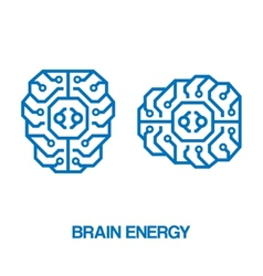 Brain energy sign vector image vector image