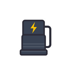 car charging station icon flat style vector image vector image