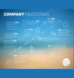 company timeline infographic template vector image vector image