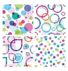 four bright seamless patterns vector image vector image