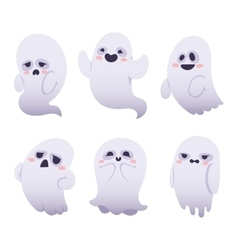 Ghost characters isolated vector