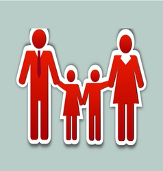Happy family collage vector image vector image