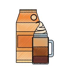 Iced coffee vector