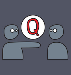 Logo quora website icon social media social vector