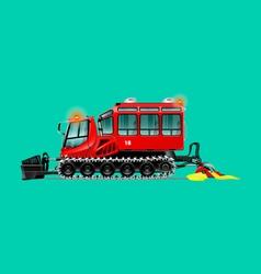 Snowcat vagon green clear vector image vector image