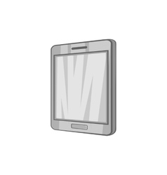 Tablet icon black monochrome style vector