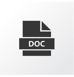 text icon symbol premium quality isolated doc vector image vector image