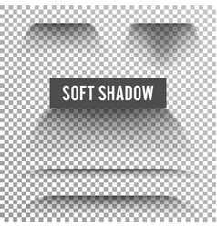 transparent soft shadow transparent and vector image vector image