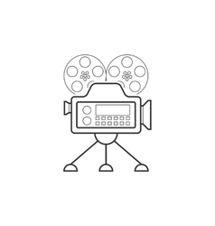 Video camera line icon vector image vector image