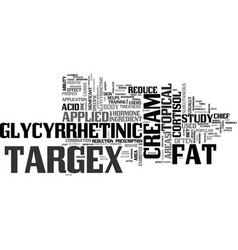 what is targex text word cloud concept vector image vector image
