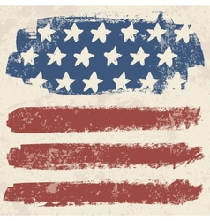 American flag vintage textured background vector image