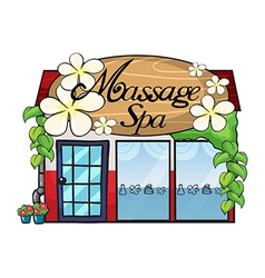 Massage shop vector
