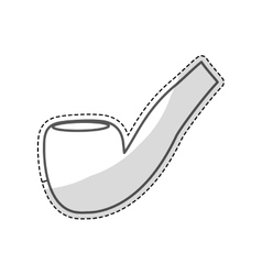 pipe for smoking icon vector image