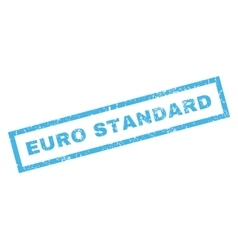 Euro standard rubber stamp vector