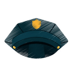 Police hat isolated icon vector