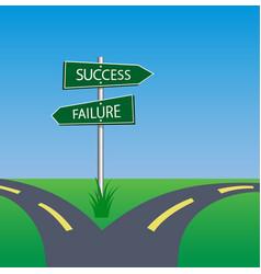 Success failure signpost vector