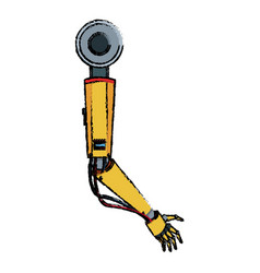 Hand of metallic cyber or robot made from vector