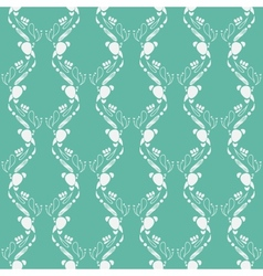 Emerald green art deco pattern vector