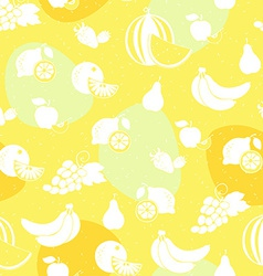 Fruit white silhouette seamless pattern vector