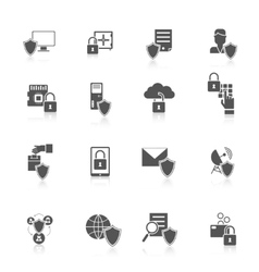 Information security icon vector