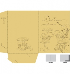 Template for folder with mushrooms vector