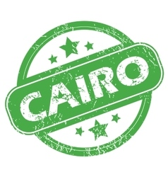 Cairo green stamp vector